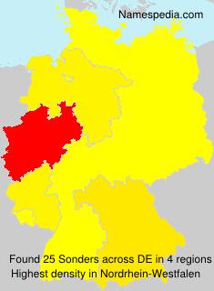 Surname Sonders in Germany