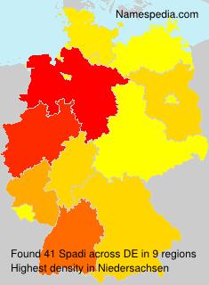 Surname Spadi in Germany
