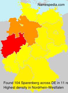 Surname Sparenberg in Germany