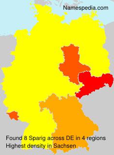 Surname Sparig in Germany