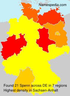 Familiennamen Spenn - Germany