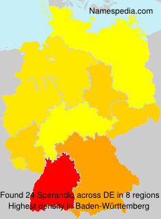Surname Sperandio in Germany