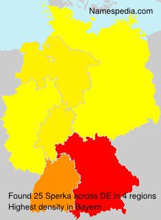 Surname Sperka in Germany