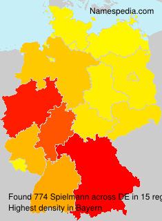 Surname Spielmann in Germany