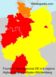 Surname Spinzig in Germany
