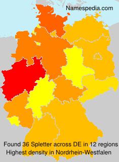 Surname Spletter in Germany