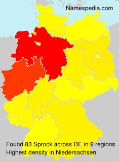 Familiennamen Sprock - Germany
