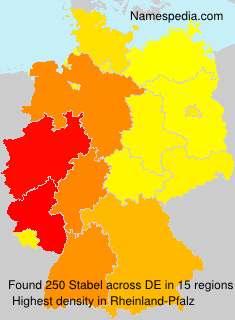 Surname Stabel in Germany