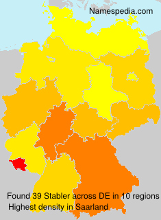 Surname Stabler in Germany