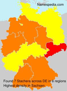 Familiennamen Stachera - Germany
