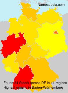 Surname Staerk in Germany