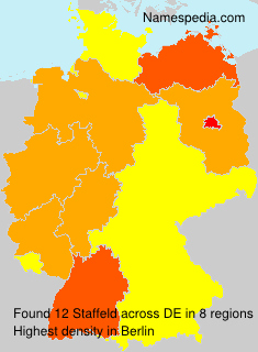 Surname Staffeld in Germany
