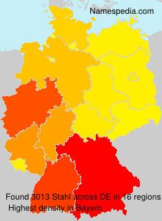 Surname Stahl in Germany