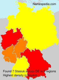 Familiennamen Stasiuk - Germany