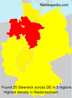 Surname Steeneck in Germany