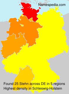 Familiennamen Stehn - Germany
