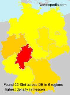 Surname Stei in Germany