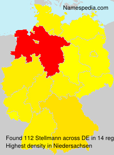 Familiennamen Stellmann - Germany