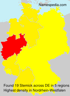 Surname Stemick in Germany