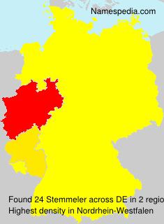 Surname Stemmeler in Germany