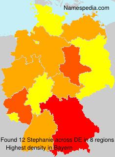 Surname Stephanie in Germany