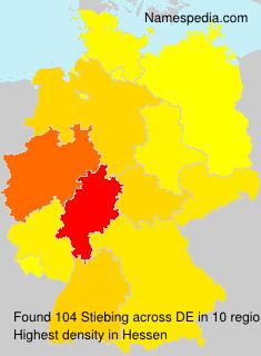 Familiennamen Stiebing - Germany
