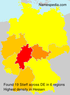 Surname Stieff in Germany