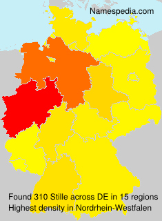 Surname Stille in Germany
