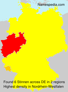 Surname Stinnen in Germany