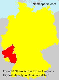 Surname Stiren in Germany