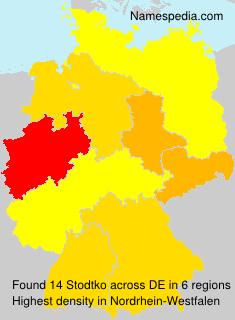 Surname Stodtko in Germany