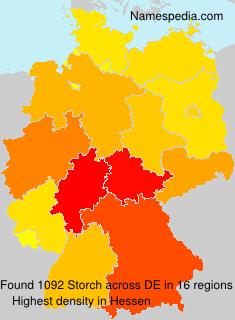 Familiennamen Storch - Germany