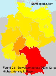 Familiennamen Stowasser - Germany