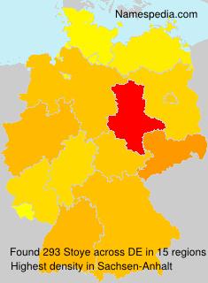 Surname Stoye in Germany