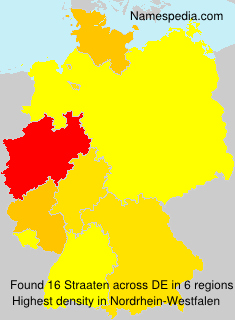 Surname Straaten in Germany