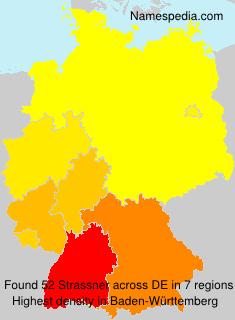 Familiennamen Strassner - Germany