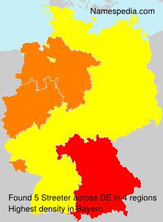 Familiennamen Streeter - Germany