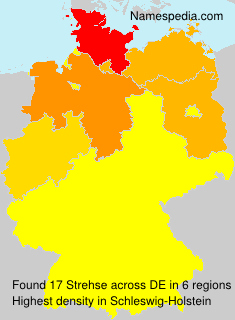 Surname Strehse in Germany