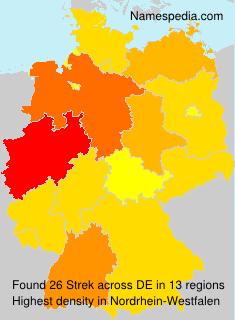 Familiennamen Strek - Germany