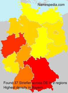 Surname Striefler in Germany