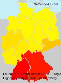 Surname Strobel in Germany