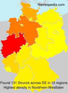 Surname Strunck in Germany