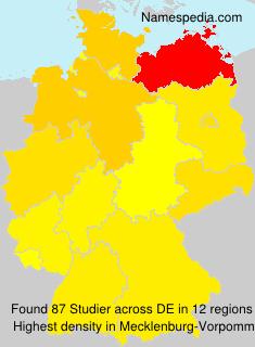 Surname Studier in Germany