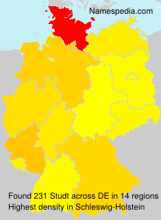 Surname Studt in Germany