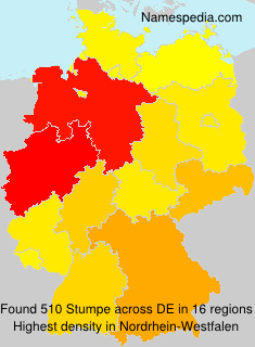 Surname Stumpe in Germany