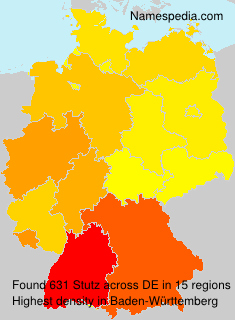 Surname Stutz in Germany