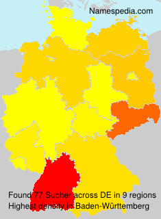 Surname Sucher in Germany