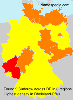 Surname Suderow in Germany