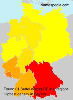 Familiennamen Suffel - Germany