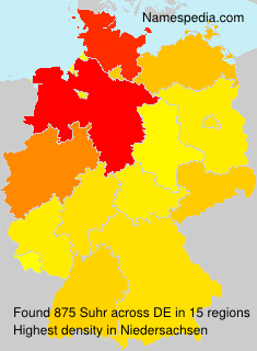 Surname Suhr in Germany